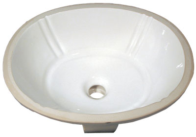Bath Vanity Porcelain - Oval