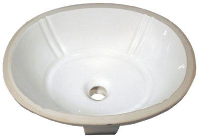 Bath Vanity Porcelain - Oval